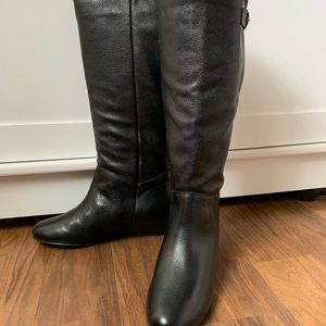Steve Madden Intyce Black Leather boots size 6.5